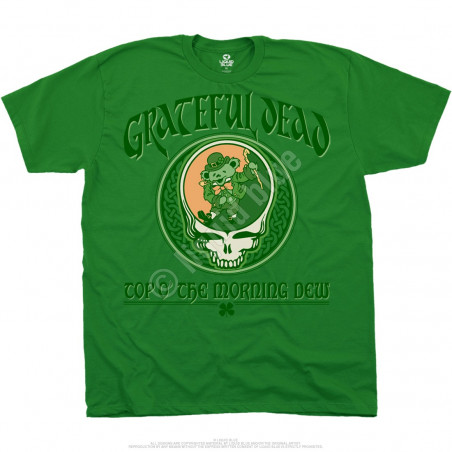 Grateful Dead Morning Dew Green Athletic T-Shirt