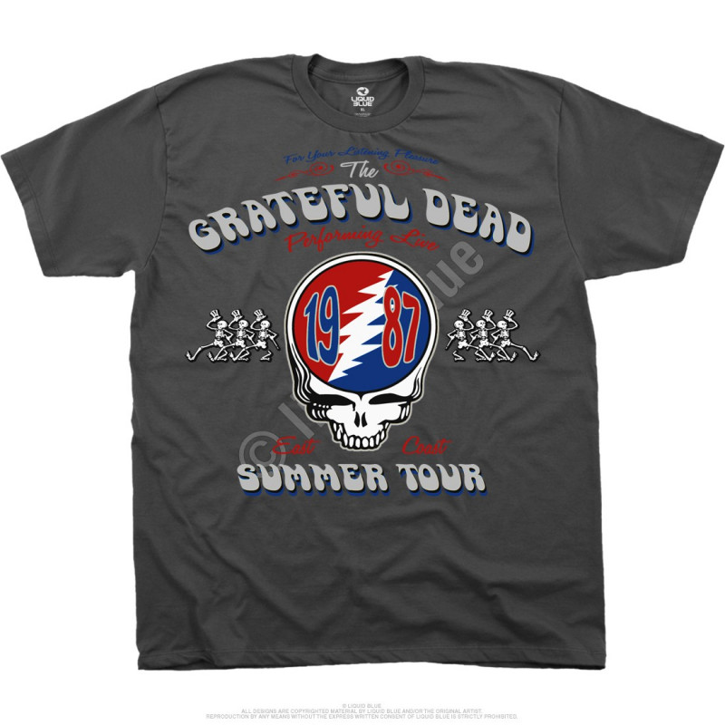 Grateful Dead Summer  Tour Shirts By Liquid Blue