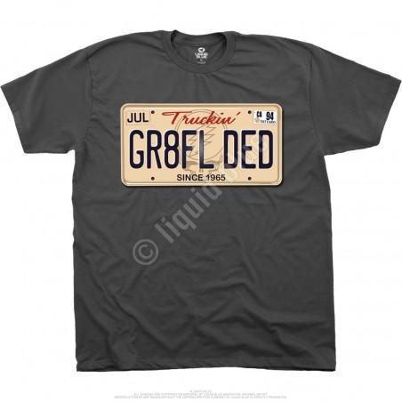 Grateful Dead Gr8fl Ded Grey T-Shirt Liquid Blue