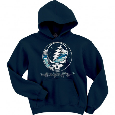 Grateful Dead Steal Your Sky And Space Navy Hoodie