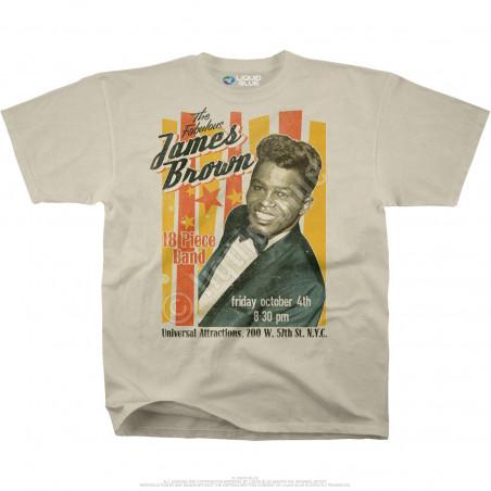 James Brown Fabulous James Brown Tan Athletic T-Shirt