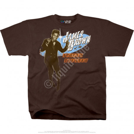 James Brown Live At The Apollo Brown Athletic T-Shirt