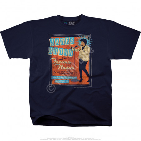 James Brown Famous Flames Navy Athletic T-Shirt