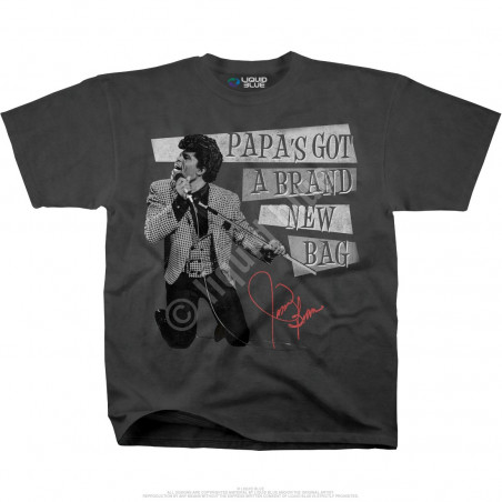 James Brown Papas Got A Brand New Bag Grey Athletic T-Shirt