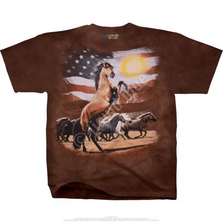 Americana American Stallion Tie-Dye T-Shirt