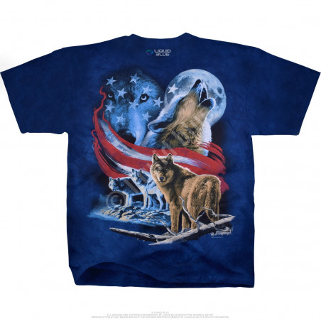 Americana American Wolf Moon Tie-Dye T-Shirt