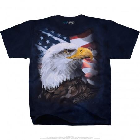 Americana American Bald Eagle Tie-Dye T-Shirt