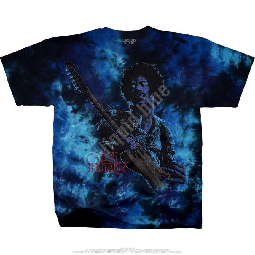 Jimi Hendrix Can You See Me Tie Dye T Shirt Liquid Blue