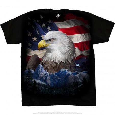 Americana Freedom Flyer Black T-Shirt Liquid Blue