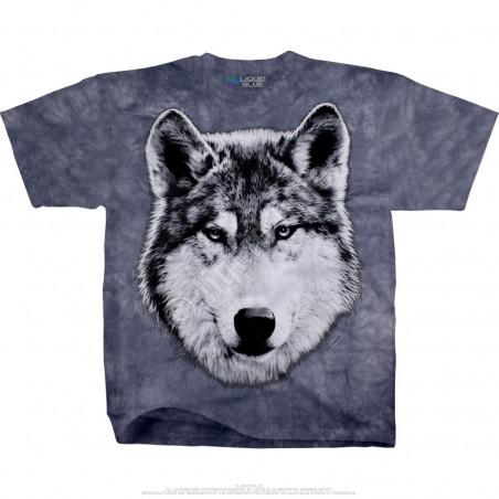 American Wildlife Wolf Glare Tie-Dye T-Shirt