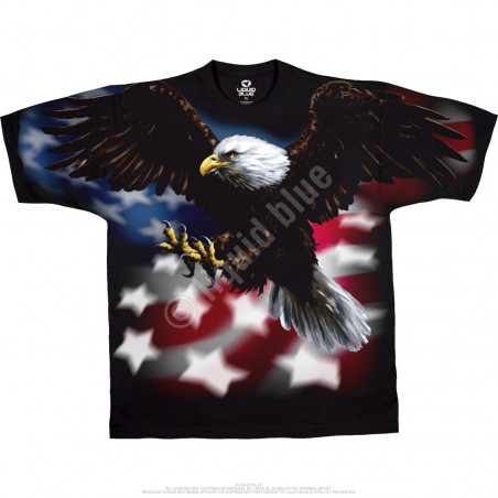 American Wildlife American Eagle Black T-Shirt
