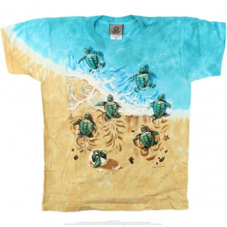 Aquatic Turtle Beach Youth Tie-Dye T-Shirt Liquid Blue