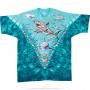 Aquatic Great White Sharks Tie-Dye T-Shirt