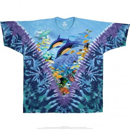 Aquatic Caribbean Treasure Tie-Dye T-Shirt
