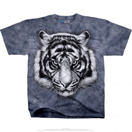 Exotic Wildlife Tiger Glare Tie-Dye T-Shirt Liquid Blue