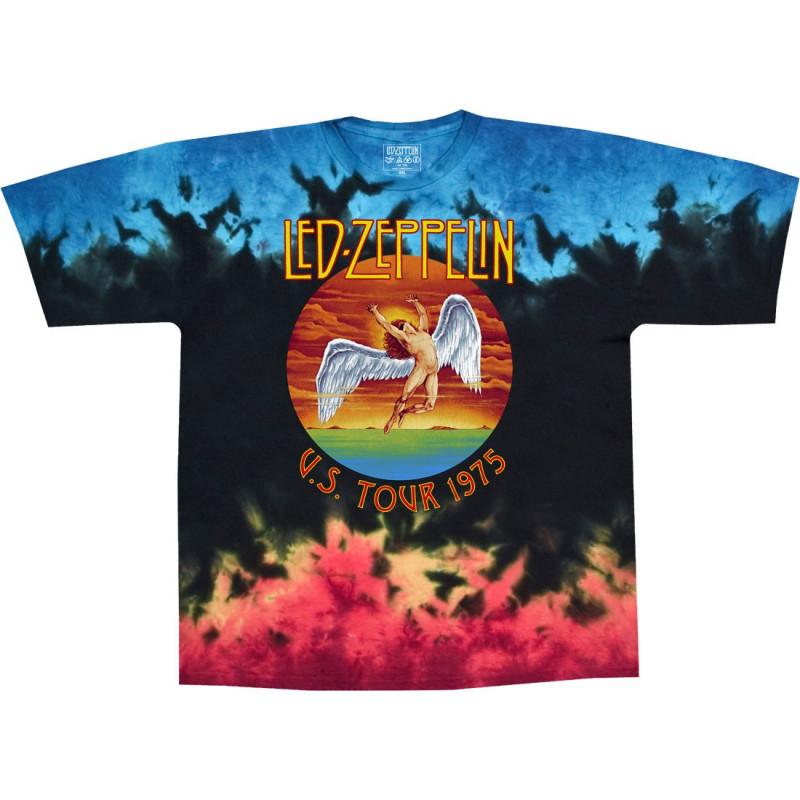 20d232e1 Led Zeppelin Icarus 1975 Tie-Dye T-Shirt Liquid Blue ...