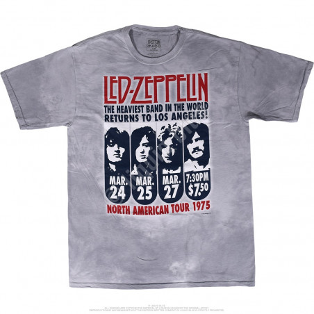 Led Zeppelin LA 1975 Tie-Dye T-Shirt Liquid Blue