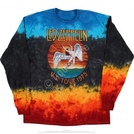 Led Zeppelin Icarus 1975 Tie-Dye Long Sleeve T-Shirt