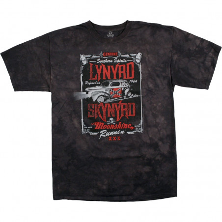 Lynyrd Skynyrd Moonshine Runnin Tie-Dye T-Shirt Liquid Blue