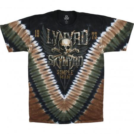 Lynyrd Skynyrd Simple Man Tie-Dye T-Shirt Liquid Blue