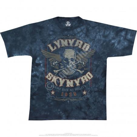 Lynyrd Skynyrd Gimme Back My Bullets Tie-Dye T-Shirt Liquid Blue