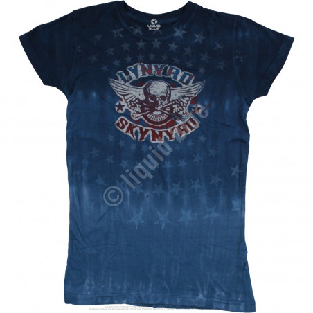 Lynyrd Skynyrd Skynyrd Stars Tie-Dye Juniors Long Length T-Shirt