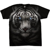 Exotic Wildlife Majestic White Tiger Black Athletic T-Shirt