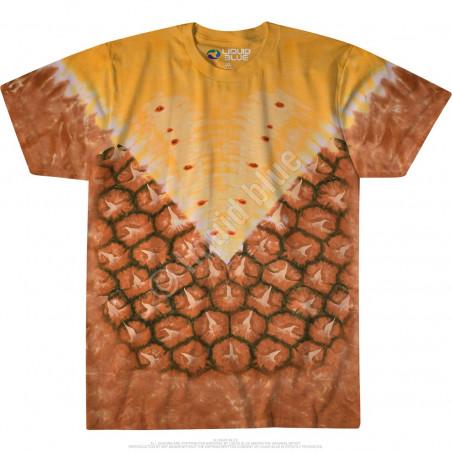 Food Pineapple Tie-Dye T-Shirt Liquid Blue