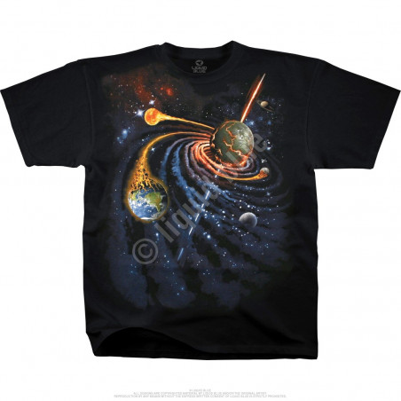 Space Spiral Space Black T-Shirt