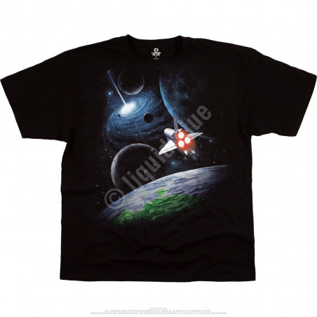 Space Milky Way Black T-Shirt