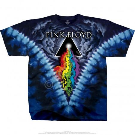 Pink Floyd Prism River Tie-Dye T-Shirt Liquid Blue