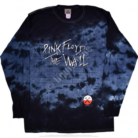Pink Floyd Brick In The Wall Tie-Dye Long Sleeve T-Shirt