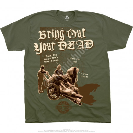 Monty Python Bring Out Your Dead Green T-Shirt Liquid Blue