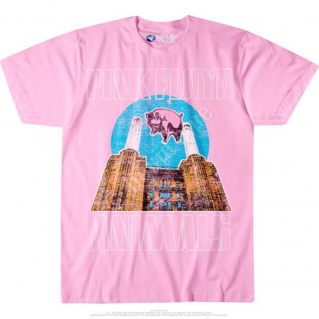 Pink Floyd Animals Pink T-Shirt Liquid Blue