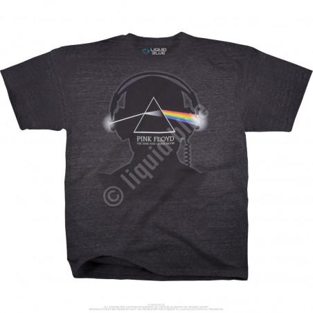 Liquid Blue Pink Floyd Dark Side Beats Dark Heather Tri-Blend T-Shirt