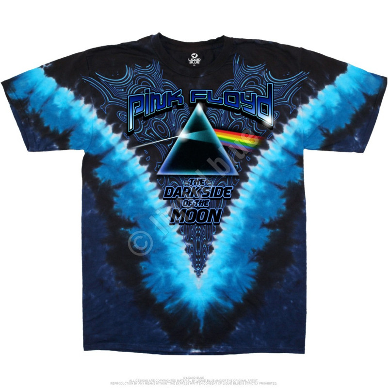 Liquid Blue Pink Floyd Dark Side Of The Moon Tie-Dye T-Shirt