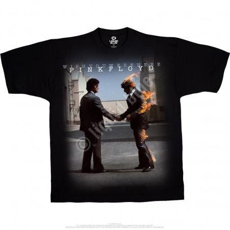 Pink Floyd Have A Cigar Black T-Shirt Liquid Blue