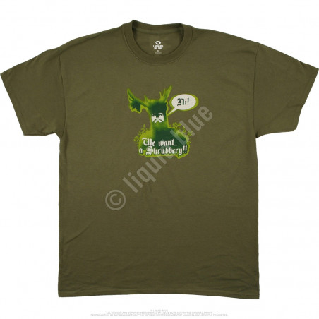 Liquid Blue Monty Python Knights Of Ni Green T-Shirt