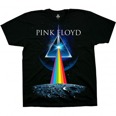 Pink Floyd Dark Side Invasion Black T-Shirt Liquid Blue