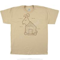 Liquid Blue Monty Python Trojan Rabbit Tan T-Shirt