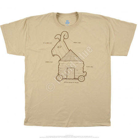 Liquid Blue Monty Python Trojan Rabbit Tan T-Shirt