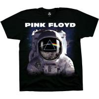 Liquid Blue Pink Floyd Spaceman Black T-Shirt