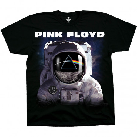 Liquid Blue Pink Floyd Spaceman Black T-Shirt