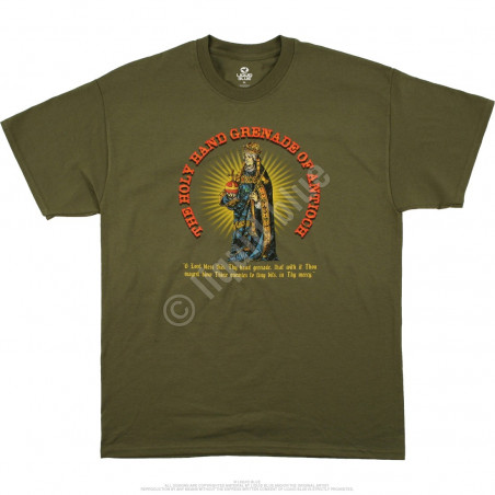 Liquid Blue Monty Python Holy Hand Grenade Green T-Shirt