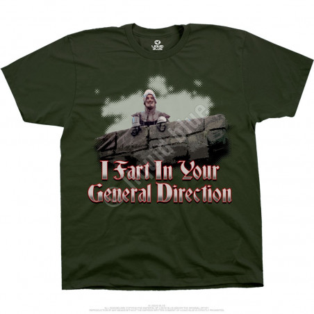 Monty Python ifart Green T-Shirt Liquid Blue