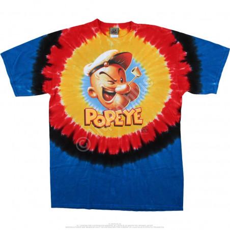 Liquid Blue Popeye Popeye Concentric Tie-Dye T-Shirt
