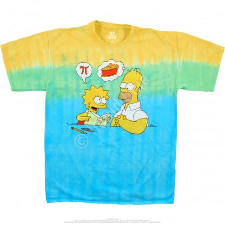 Liquid Blue The Simpsons Mmm Pi Tie-Dye T-Shirt