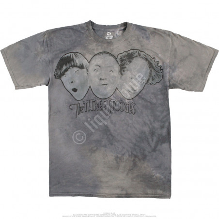 Three Stooges Tie-Dye T-Shirt Liquid Blue