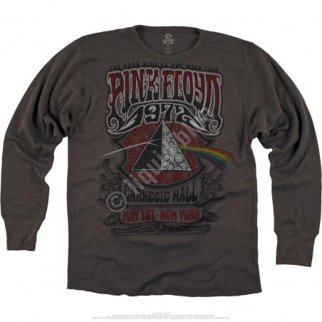 Liquid Blue Pink Floyd Carnegie Hall Thermal Long Sleeve T-Shirt
