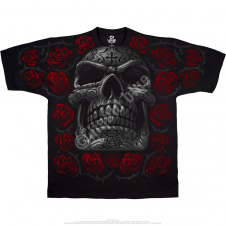 Liquid Blue Latin Art Day Of The Dead Black T-Shirt
